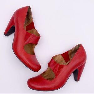 MIZ MOOZ 'SIMONE' Red Mary Jane Pin Up Pumps 8.5